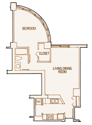 1 Bedroom 1 Bathroom Apartment for rent at Wilson Park Tower in Minneapolis, MN