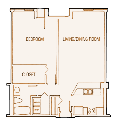 1 Bedroom 1 Bathroom Apartment for rent at The Mc Nair in Minneapolis, MN