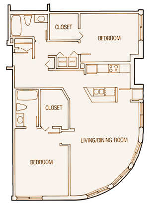 2 Bedrooms 2 Bathrooms Apartment for rent at Laurel Curve in Minneapolis, MN