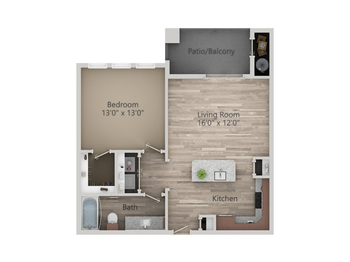 1 Bedroom 1 Bathroom Apartment for rent at Enclave At The Dominion in San Antonio, TX