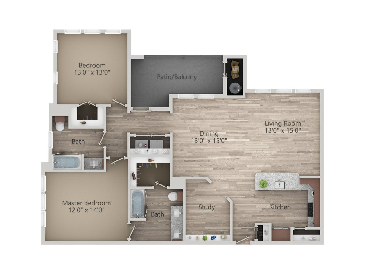 2 Bedrooms 2 Bathrooms Apartment for rent at Enclave At The Dominion in San Antonio, TX