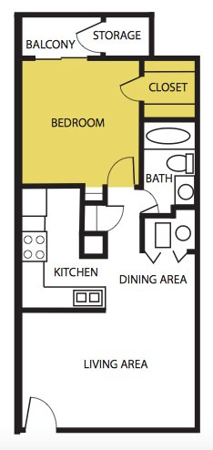 1 Bedroom 1 Bathroom Apartment for rent at The Artisan in Albuquerque, NM