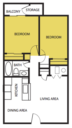 2 Bedrooms 1 Bathroom Apartment for rent at The Artisan in Albuquerque, NM