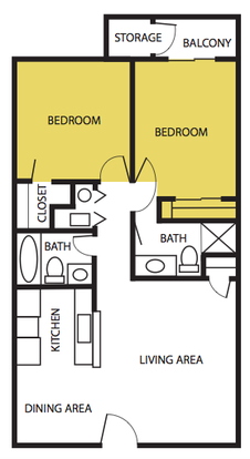 2 Bedrooms 2 Bathrooms Apartment for rent at The Artisan in Albuquerque, NM