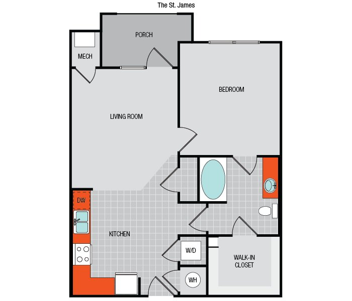 1 Bedroom 1 Bathroom Apartment for rent at The Flats On 401 in Raleigh, NC