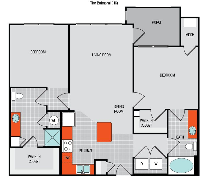 2 Bedrooms 2 Bathrooms Apartment for rent at The Flats On 401 in Raleigh, NC