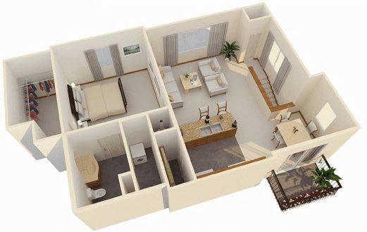 1 Bedroom 1 Bathroom Apartment for rent at Cascata Apartments in Tulsa, OK