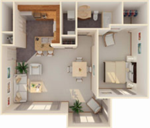 1 Bedroom 1 Bathroom Apartment for rent at Icon At Lubbock in Lubbock, TX