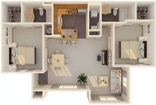 2 Bedrooms 2 Bathrooms Apartment for rent at Icon At Lubbock in Lubbock, TX