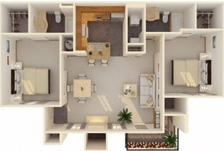 2 Bedrooms 2 Bathrooms Apartment for rent at Tuscany Place in Lubbock, TX