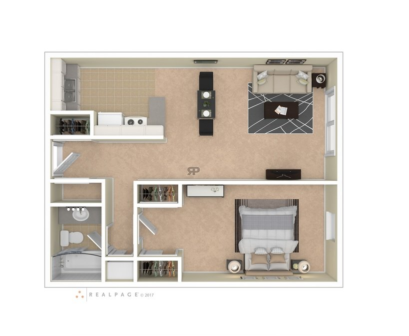 1 Bedroom 1 Bathroom Apartment for rent at Lexington Park Apartmetns in Columbus, OH