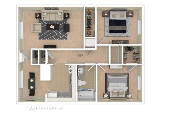 2 Bedrooms 1 Bathroom Apartment for rent at Lexington Park Apartmetns in Columbus, OH