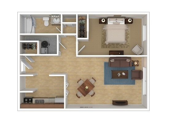 1 Bedroom 1 Bathroom Apartment for rent at Harvard Square in Columbus, OH