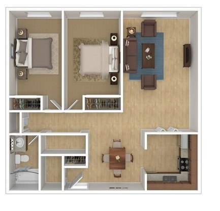 2 Bedrooms 1 Bathroom Apartment for rent at Harvard Square in Columbus, OH