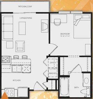 1 Bedroom 1 Bathroom Apartment for rent at Republic At Sam Houston in Huntsville, TX