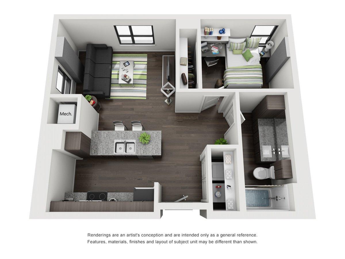 1 Bedroom 1 Bathroom Apartment for rent at Skyloft Austin in Austin, TX
