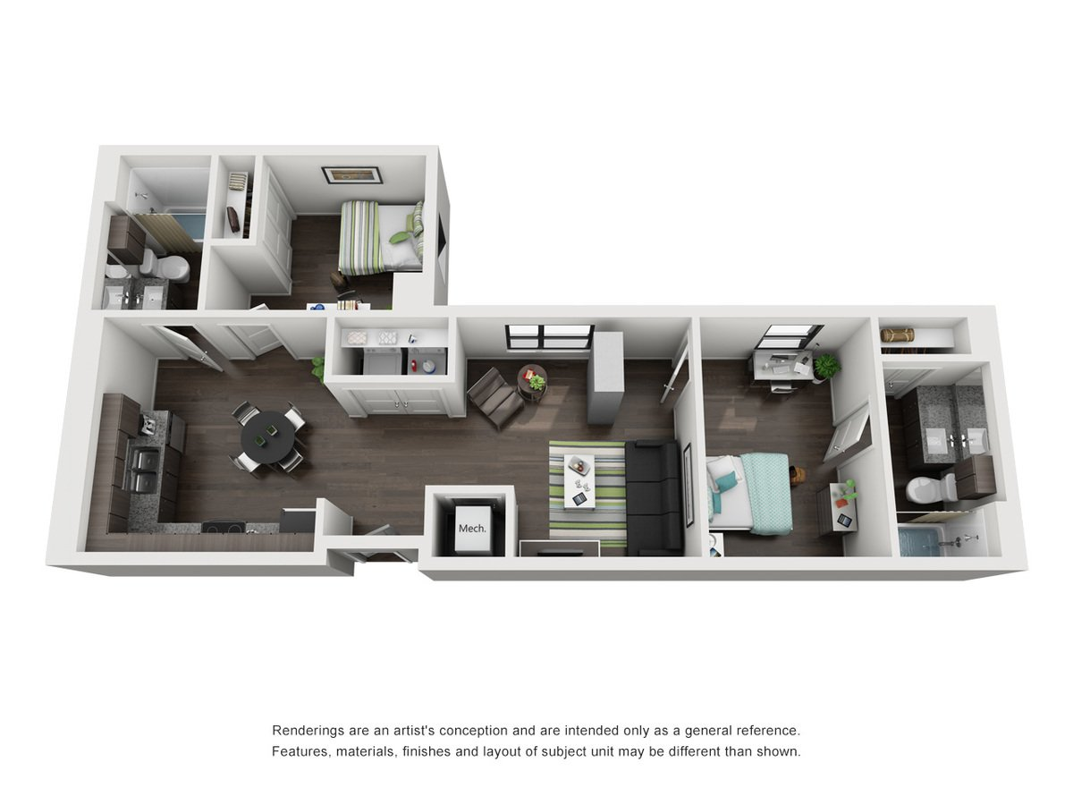 2 Bedrooms 2 Bathrooms Apartment for rent at Skyloft Austin in Austin, TX