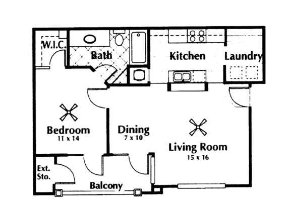 1 Bedroom 1 Bathroom Apartment for rent at The Reserve At Kanapaha in Gainesville, FL