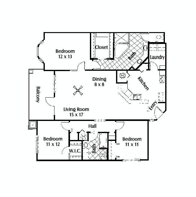3 Bedrooms 2 Bathrooms Apartment for rent at The Reserve At Kanapaha in Gainesville, FL