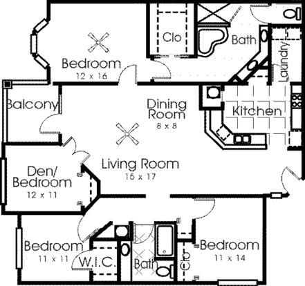 4 Bedrooms 2 Bathrooms Apartment for rent at The Reserve At Kanapaha in Gainesville, FL