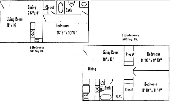 2 Bedrooms 1 Bathroom Apartment for rent at Madison On 20th Apartments in Gainesville, FL