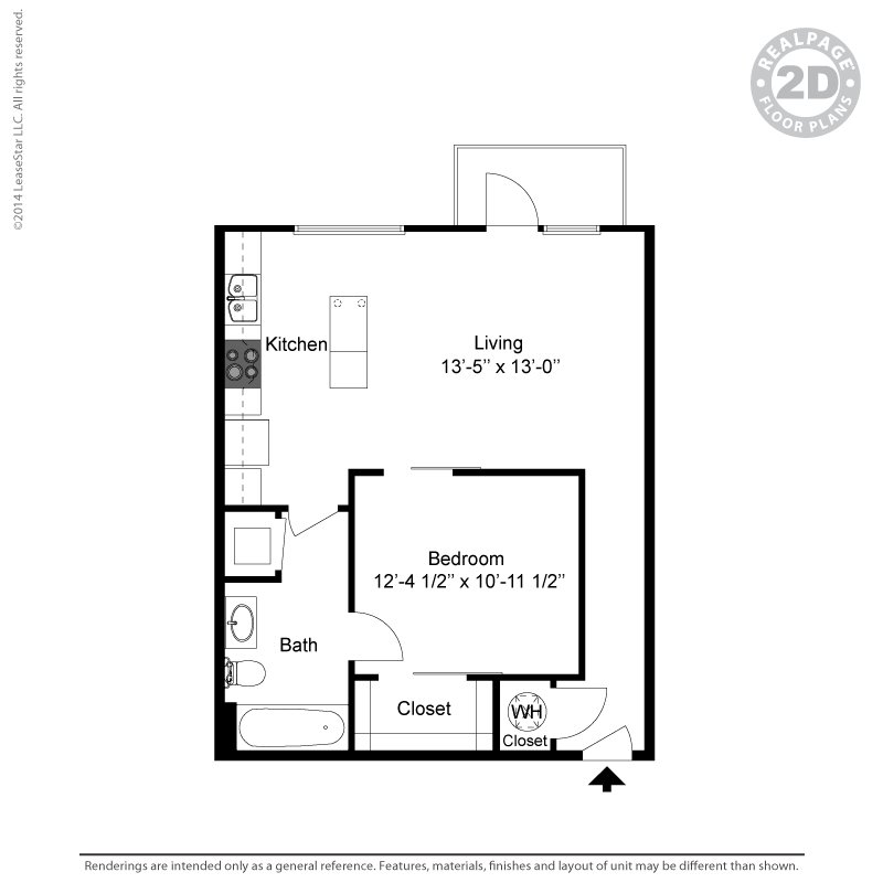 1 Bedroom 1 Bathroom Apartment for rent at Oaks 5th Street Crossing At City Station in Garland, TX