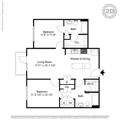 2 Bedrooms 2 Bathrooms Apartment for rent at Oaks 5th Street Crossing At City Station in Garland, TX