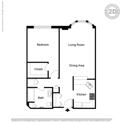 1 Bedroom 1 Bathroom Apartment for rent at Oaks Hiawatha Station in Minneapolis, MN