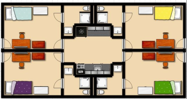 1 Bedroom 1 Bathroom Apartment for rent at Campus Quads in Eugene, OR