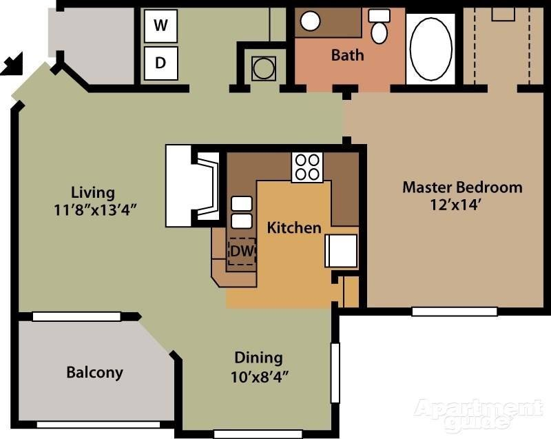 1 Bedroom 1 Bathroom Apartment for rent at The Park On Bluebonnet in Baton Rouge, LA
