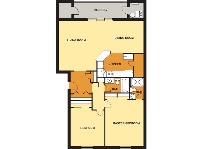 2 Bedrooms 2 Bathrooms Apartment for rent at Beacon Hill in Pittsburgh, PA