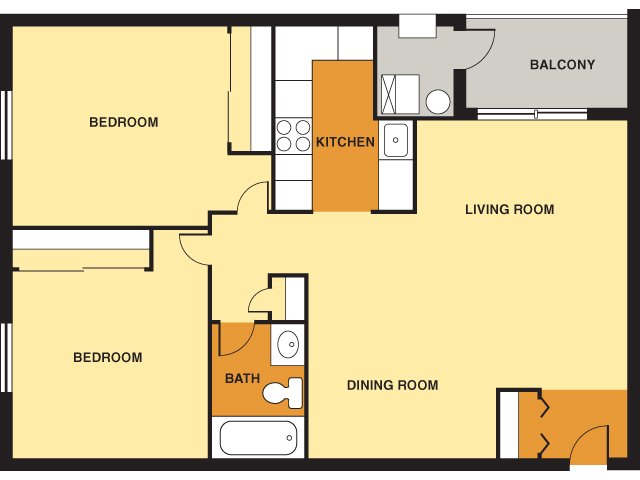2 Bedrooms 1 Bathroom Apartment for rent at Davison Square in Pittsburgh, PA