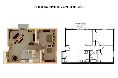 2 Bedrooms 1 Bathroom Apartment for rent at Riverside Apartments in River Falls, WI
