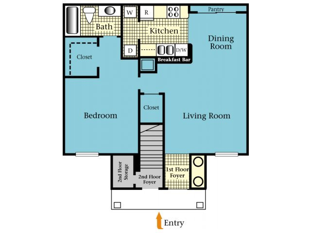 1 Bedroom 1 Bathroom Apartment for rent at Brookside Apartments in Newberry, FL