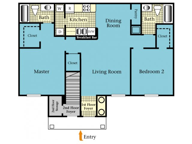 2 Bedrooms 2 Bathrooms Apartment for rent at Brookside Apartments in Newberry, FL