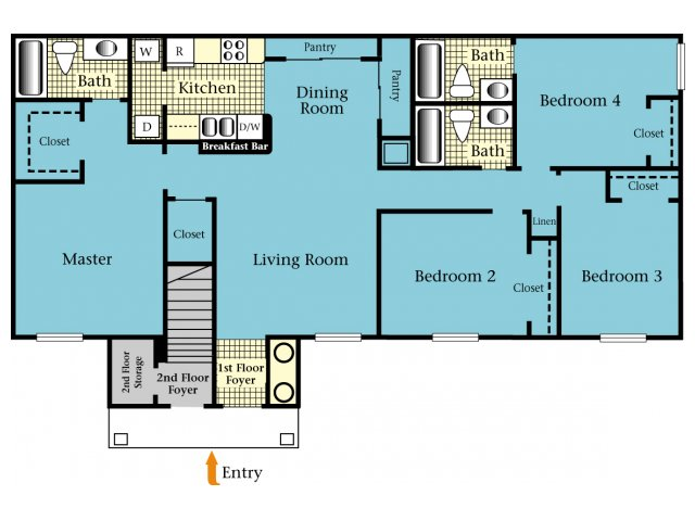 4 Bedrooms 3 Bathrooms Apartment for rent at Brookside Apartments in Newberry, FL