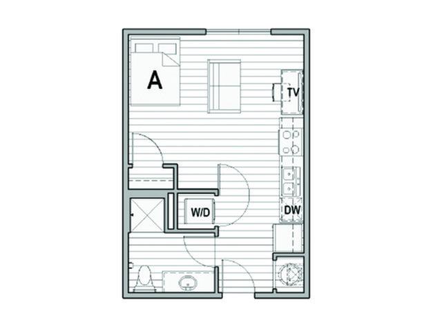 Studio 1 Bathroom Apartment for rent at Uncommon Columbus in Columbus, OH