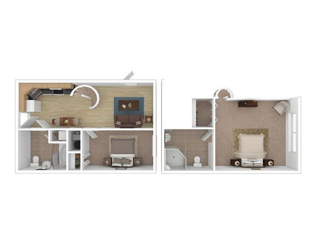 2 Bedrooms 2 Bathrooms Apartment for rent at Midtown Lofts in Champaign, IL