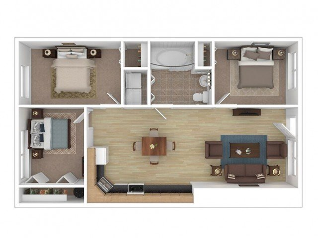 3 Bedrooms 1 Bathroom Apartment for rent at Midtown Lofts in Champaign, IL