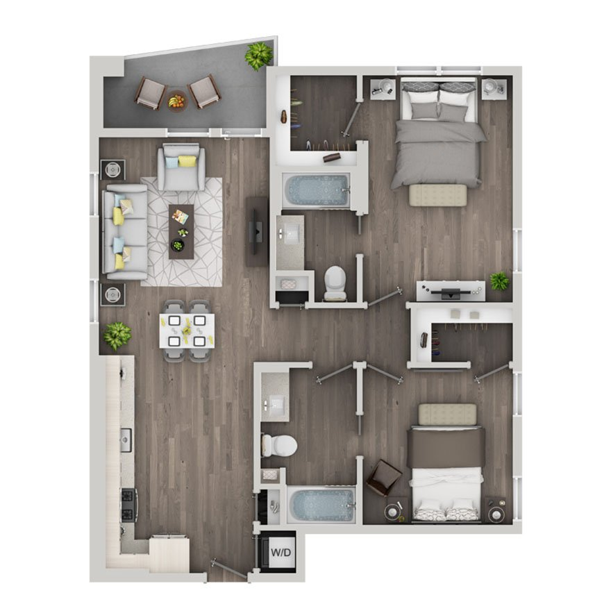 2 Bedrooms 2 Bathrooms Apartment for rent at Nve At Fairfax in Los Angeles, CA
