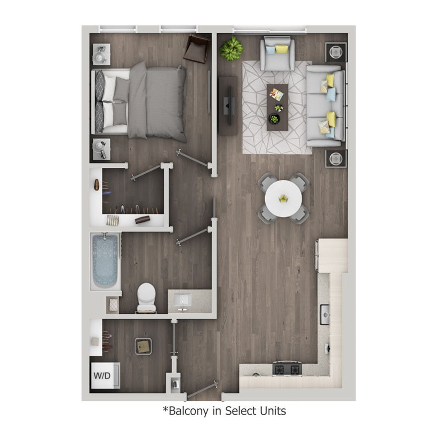 1 Bedroom 1 Bathroom Apartment for rent at Nve At Fairfax in Los Angeles, CA