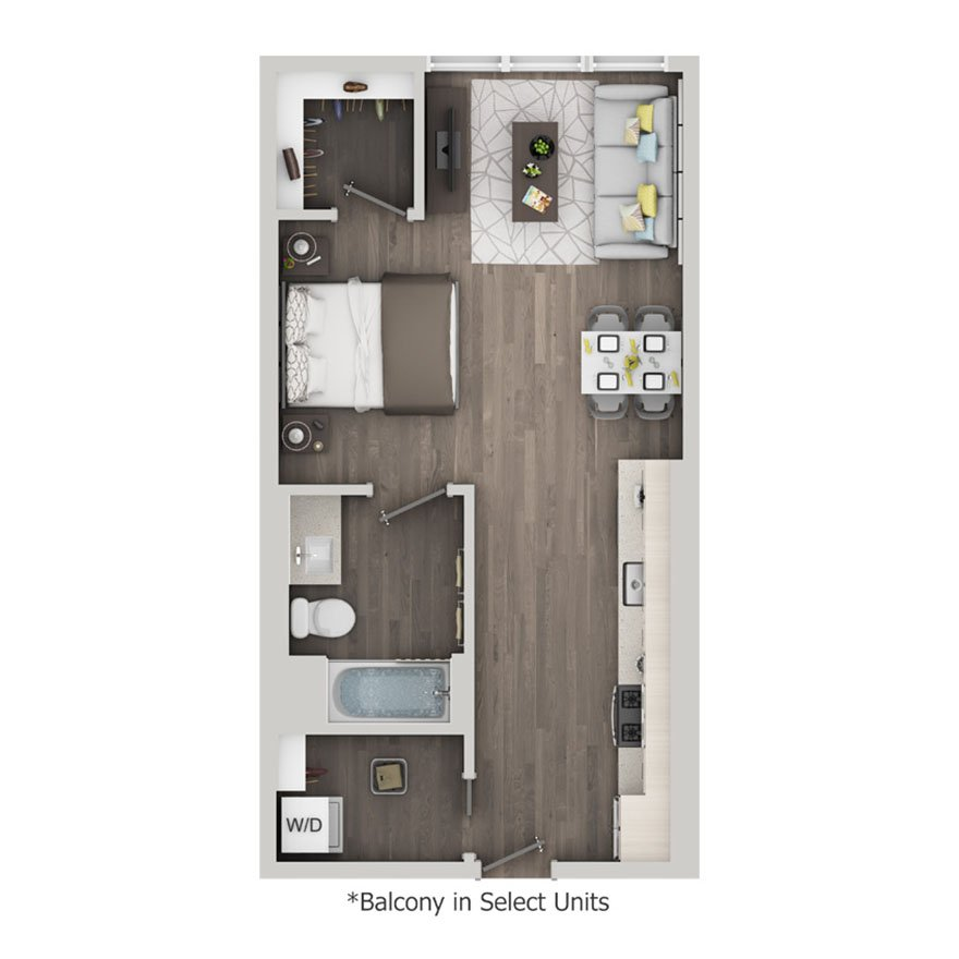 Studio 1 Bathroom Apartment for rent at Nve At Fairfax in Los Angeles, CA