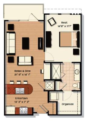 1 Bedroom 1 Bathroom Apartment for rent at Chapel Hill North Apartments in Chapel Hill, NC