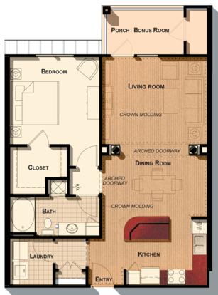 1 Bedroom 1 Bathroom Apartment for rent at Cosgrove Hill in Chapel Hill, NC
