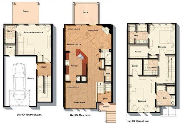 3 Bedrooms 3 Bathrooms Apartment for rent at Cosgrove Hill in Chapel Hill, NC
