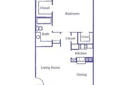 1 Bedroom 1 Bathroom Apartment for rent at Woodhollow Apartments in Huntsville, TX