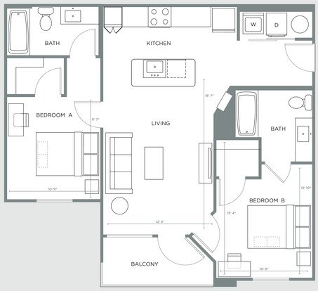 2 Bedrooms 2 Bathrooms Apartment for rent at The Nine in Tuscaloosa, AL