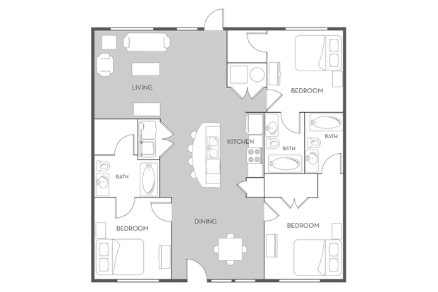 3 Bedrooms 3 Bathrooms Apartment for rent at Woodlands Of Tuscaloosa in Tuscaloosa, AL
