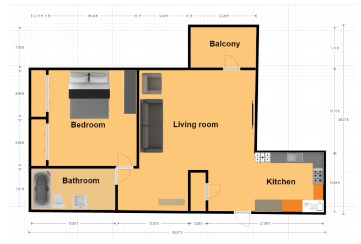 1 Bedroom 1 Bathroom Apartment for rent at Mountainside in Birmingham, AL