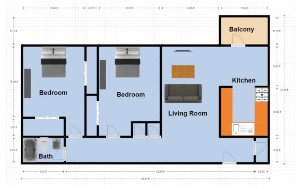 2 Bedrooms 1 Bathroom Apartment for rent at Mountainside in Birmingham, AL